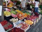 Marktstand in Piran ( Slowenien)