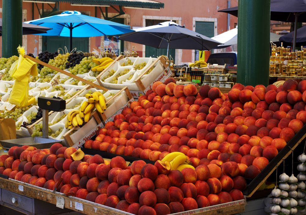 Marktstand in Rovinj