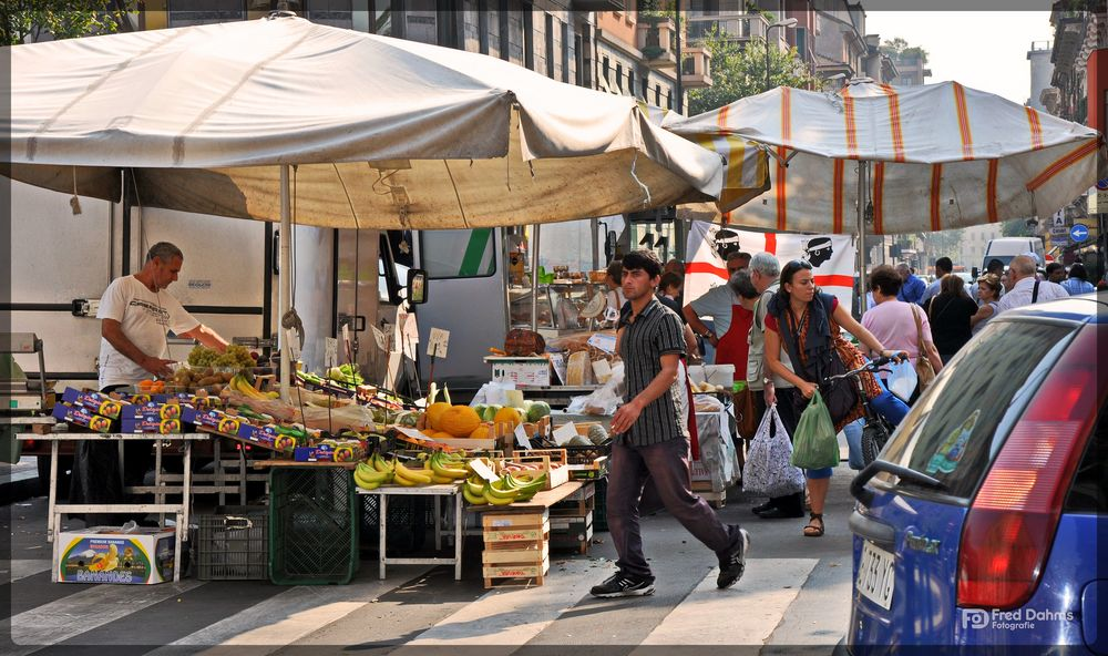 Markttag in Mailand