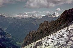 Marmolata (3300m) und Fassatal