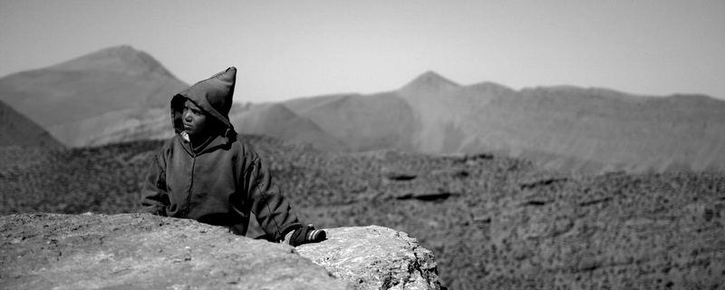 maroc - haut Atlas - près du M'Goun sur des haut plateaux