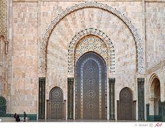 Marokko: Casablanca, Eingangstor Moschee Hassan II. Bild 19