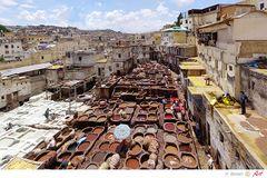 Marokko Gerberei in Fes