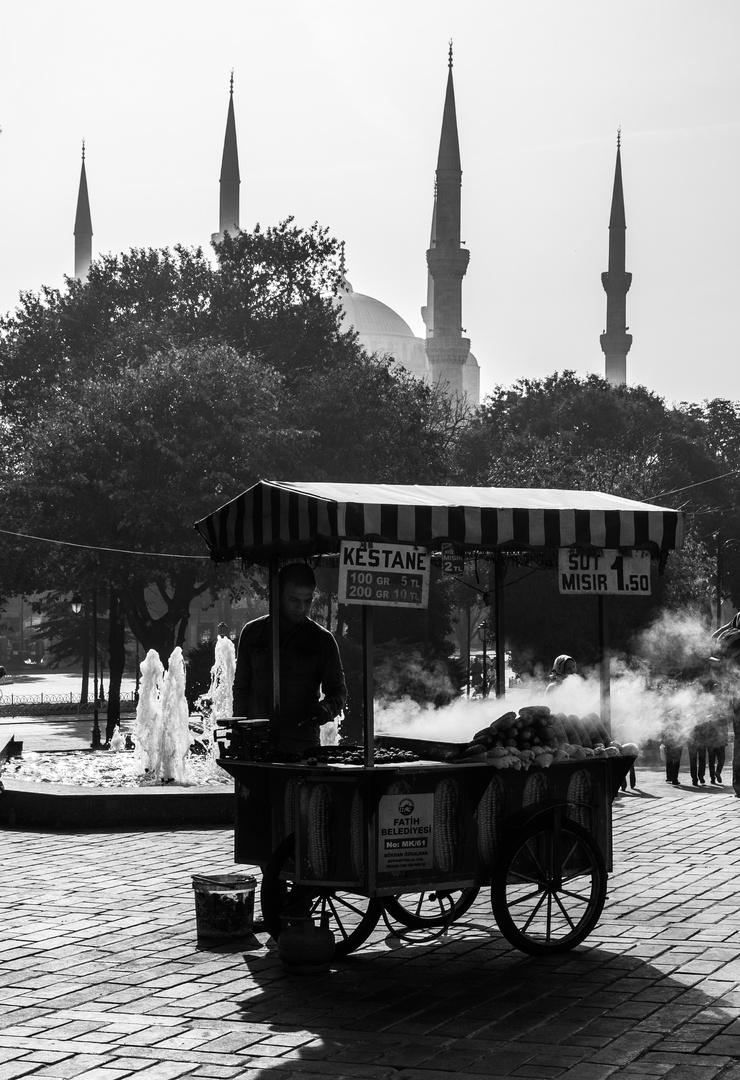 Maronenverkäufer in Istanbul