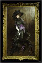 Marquise Luisa Casati (1881-1957) mit Windund