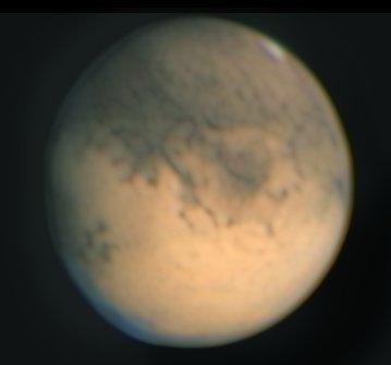 Mars mit winziger Polkappe