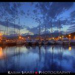 Marseille, le port de l'Estaque by night