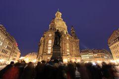 Martin Luther und Frauenkirche Dresden