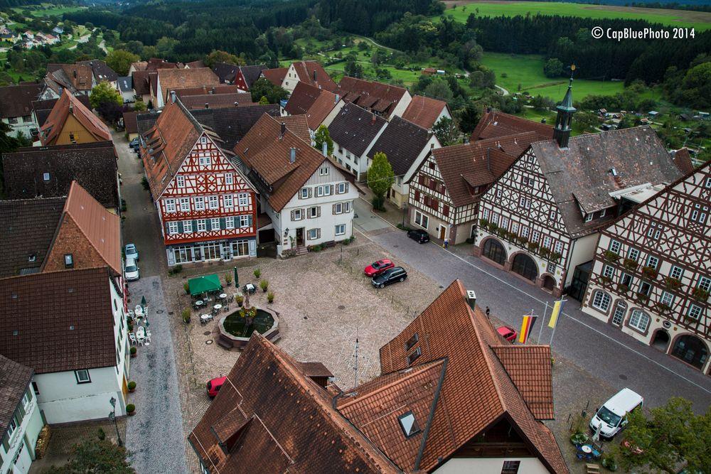 Martinskirche Dornstetten Blick auf die Stadtmitte