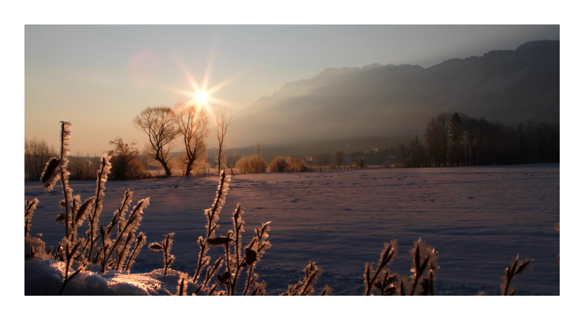 Marzoll im Morgenlicht