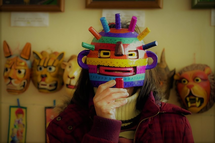 Máscara diablo ecuatoriano