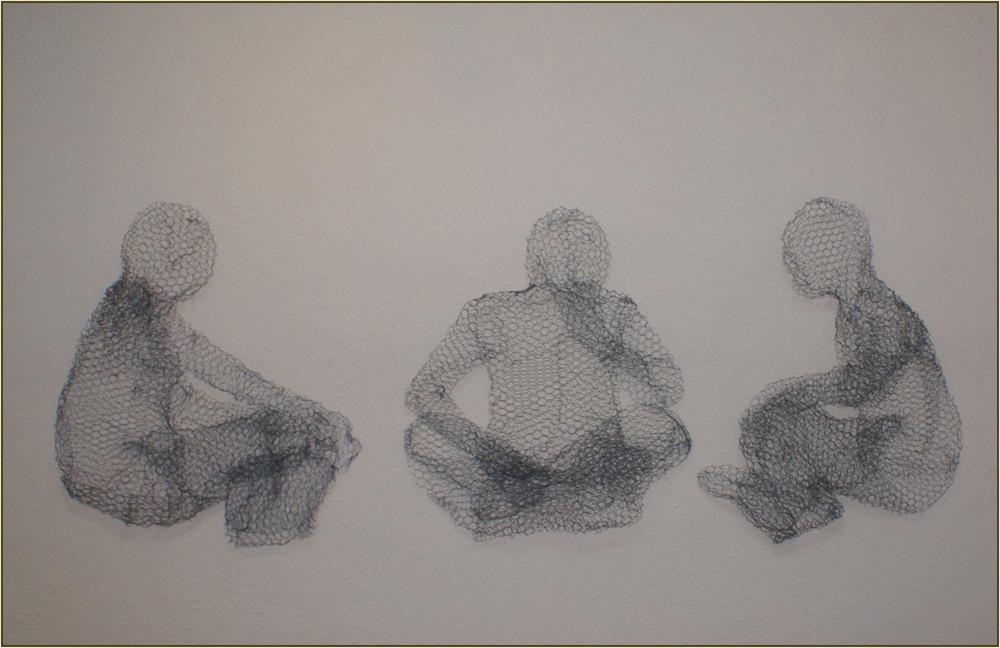 Maschendraht- Trio