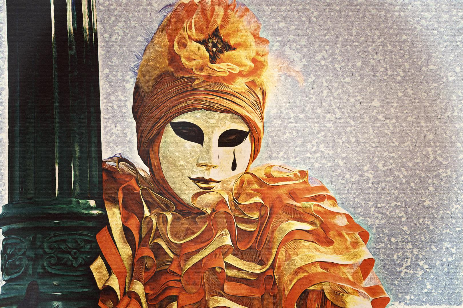 Maschera dipinto