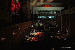 Maschinenhalle des Schiffshebewerk Ronquières