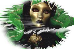 Maske in Grün