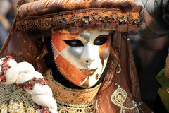 Maske orange/silber