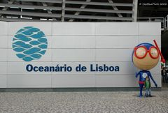 Maskottchen des Oceanario de Lisboa