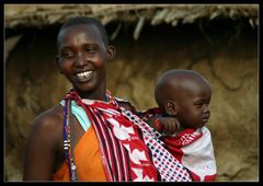 ... Massai Woman with Baby , Kenya ...
