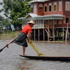 Masters of leg-rowing on the Inle Lake