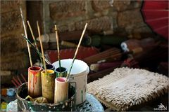 Matériel servant à décorer les parasols