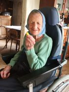 Mathilde, 97, freut sich riesig auf das Gutserl