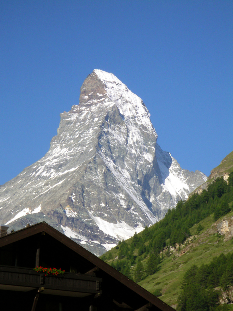 Matterhorn - alles beherrschender Fels.