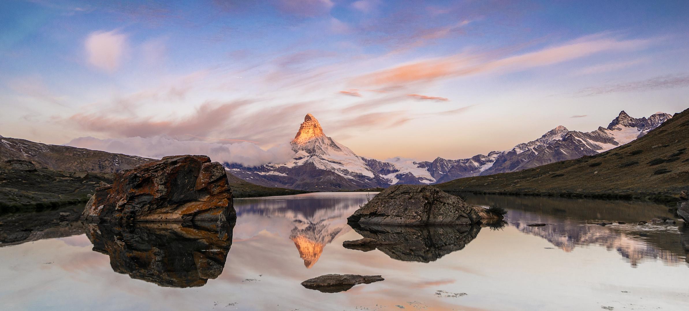 Matterhorn am Stellisee
