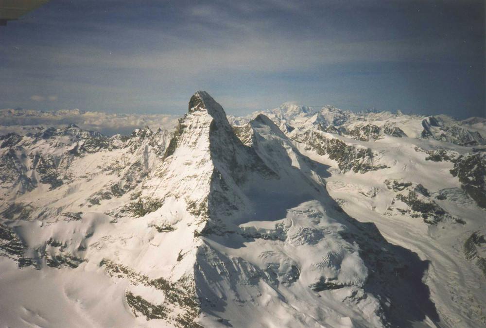 Matterhorn aus der Vogelperspektive