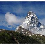 Matterhorn mit Wolken