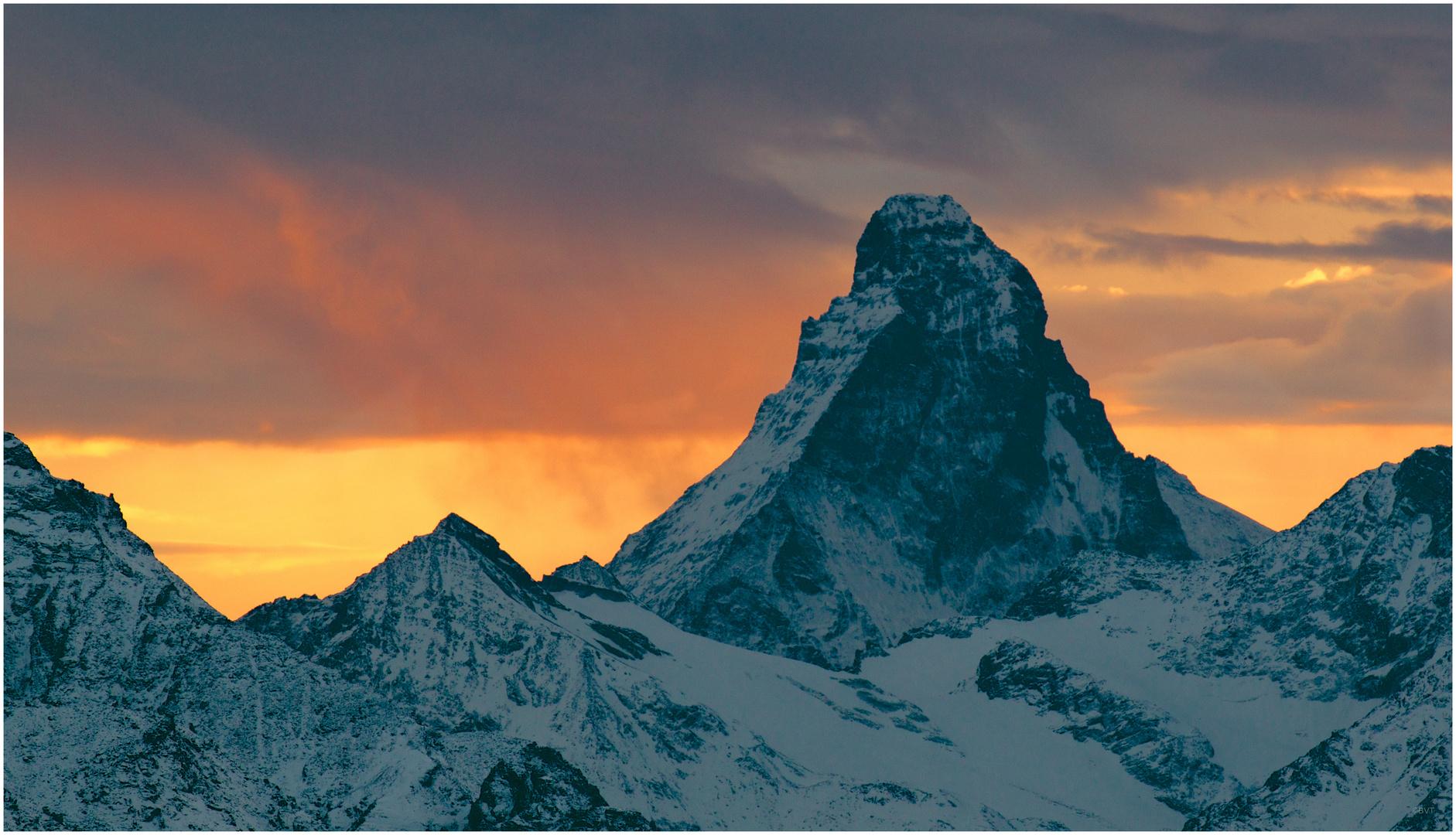 Matterhorn vor Abendrot
