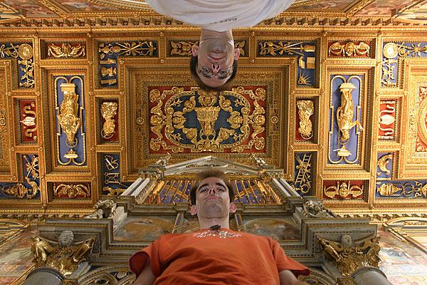Matthias und Christian in der Kirche San Giovanni in Laterno