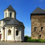 Matthiaskapelle und Oberburg in Kobern-Gondorf / Mosel