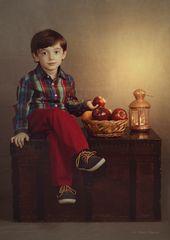 Mattia and the fruit basket