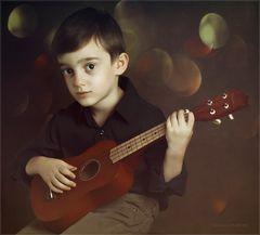 Mattia e l'ukulele