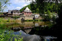 Mauer und Rathaus von Dausenau