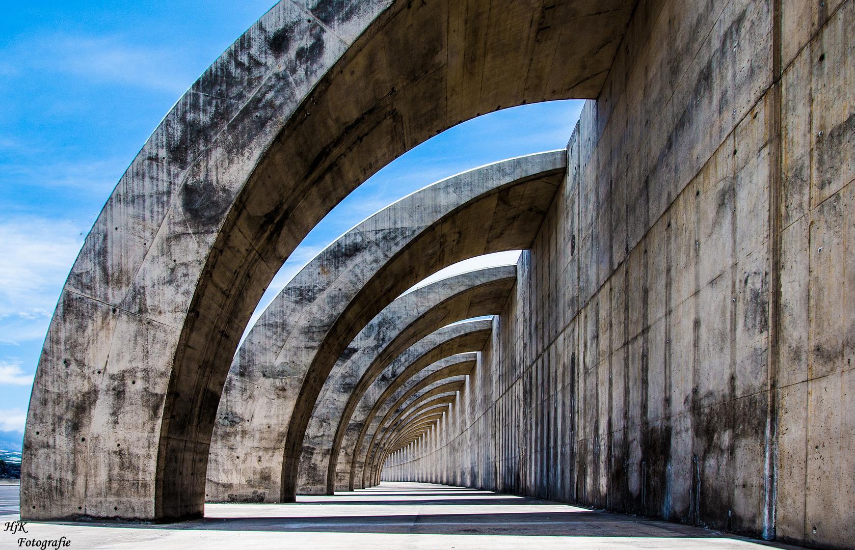 Mauerwall in Tazacorte Puerto