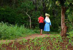 Mavanga auf dem Weg zum Markt