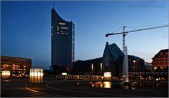 MDR Tower & neues Uni-Gebäude