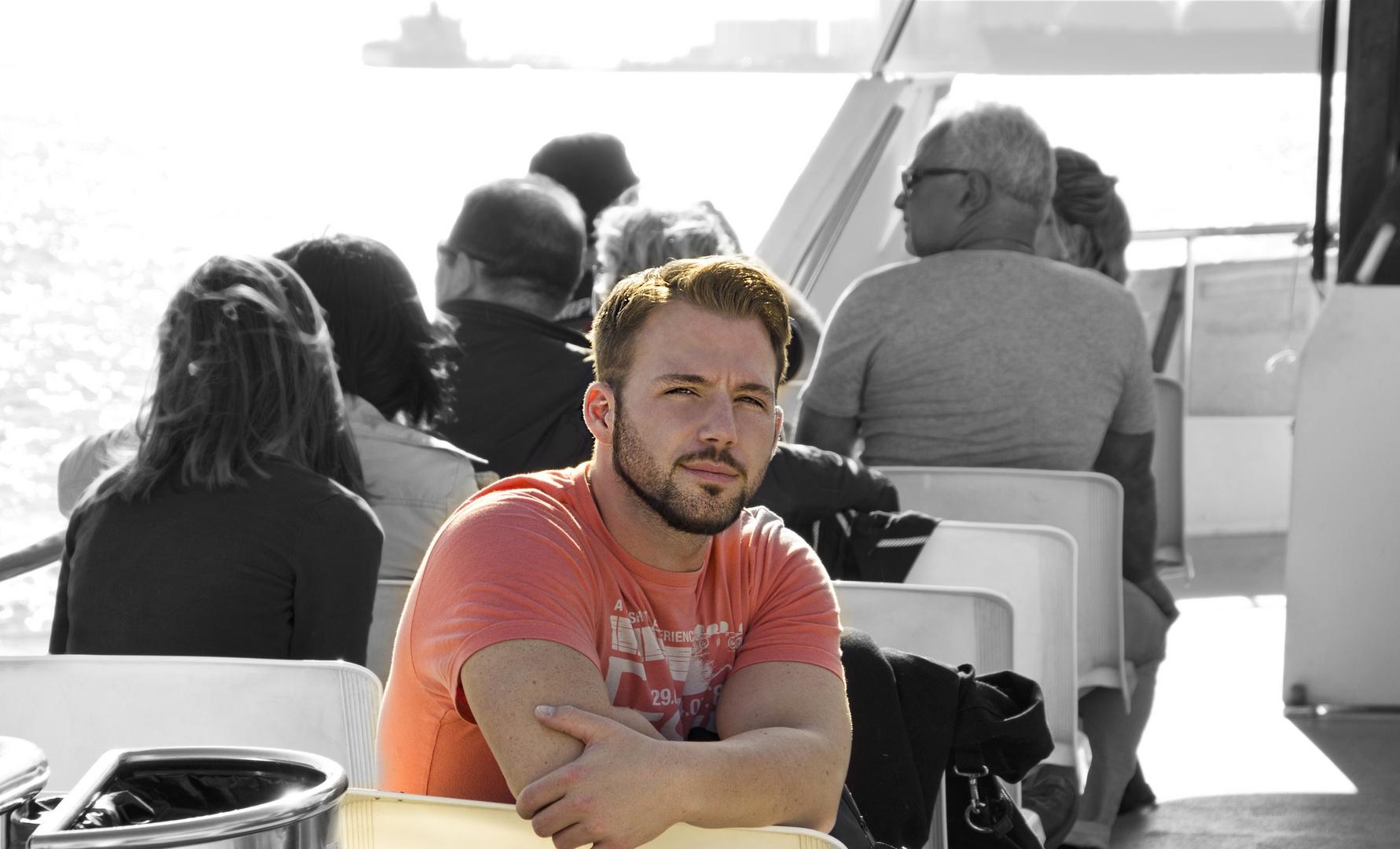 Me in November at the Barcelona Port