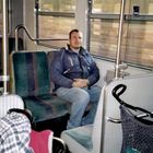 Me in the S6 Train from Weil der Stadt to Stuttgart, Ich in S6 von Weil der Stadt nach Stuttgart