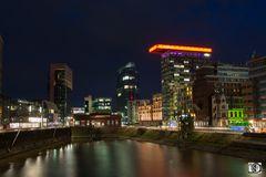 Medienhafen bei Nacht