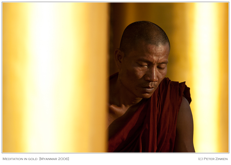 Meditation in gold