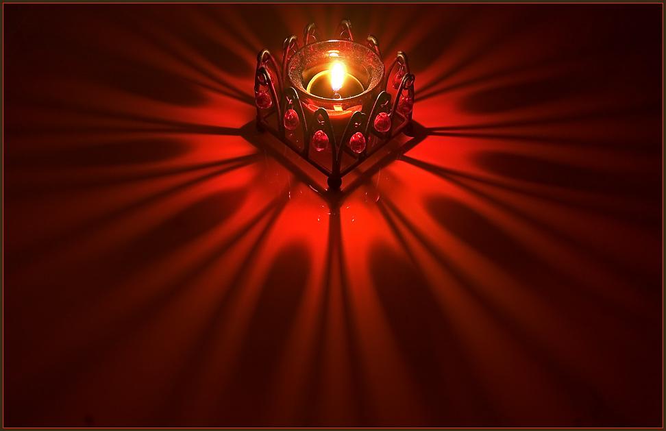 meditativer Kerzenschein