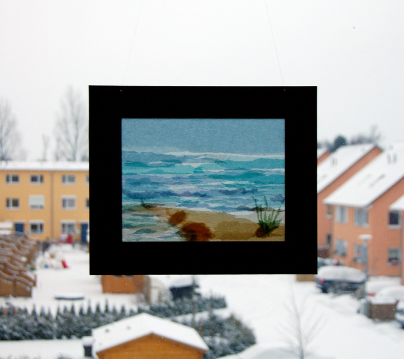 Meer im Schnee