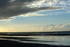 meer + strand + abend
