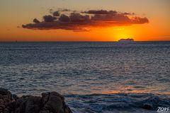 Meer-Urlaub-Sonnenaufgang