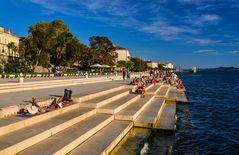 Meeresorgel, Zadar, Dalmatien, Kroatien