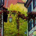 ..Meersburger Fachwerkhäuser in Farbe
