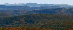 Mehr als 120 km zu Schneekoppe und Schwarzer Berg hier zusammen auf dem Bild....