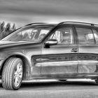 Mein Benz mal in sw und HDR - war mal ein Test